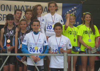 Le collège Victor Hugo Champion de France UNSS de triathlon